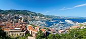 Monaco city arial view