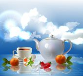 fruits and morning tea