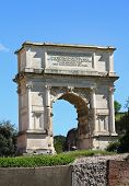 The Arch Of Titus At Forum Roman, Rome, Italy