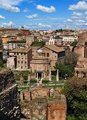 View Of The Temple Of Romulus, From The Palatine Hill, Rome