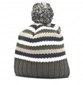 Wool hat on white background