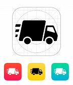 Fast delivery Truck icon.