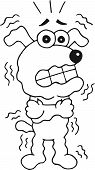 picture of shivering  - Retro cartoon funny dog is shivering - JPG