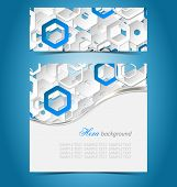 Double Color Abstract Paper Template