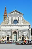 FLORENCE, ITALY - APRIL 15: Facade of the Basilica of Santa Maria Novella on April 15, 2013 in Flore