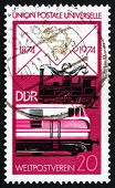 Postage Stamp Gdr 1974 Old Steam Locomotive And Modern Diesel