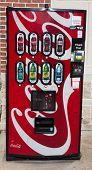 JACKSONVILLE, FL - DEC 6: A Coke machine in Jacksonville, Florida on December 6, 2013. Coca-Cola Co.