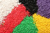 image of raw materials  - full color plastic material  - JPG