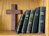 Wooden Cross With Bibles