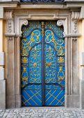Ornamented Door. Entrance Door To University Building, Wroclaw, Poland.