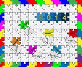 9   Jigsaw Drop-down Puzzle  2014  - Wishful Thinking