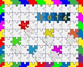 12 Jigsaw Drop-down Puzzle  2014 -your Text