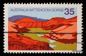 AUSTRALIA - CIRCA 1976: A Stamp sheet printed in AUSTRALIA shows the Wittenoom Gorge, Western Austra