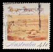 AUSTRALIA - CIRCA 1990: A stamp printed in Australia shows The Diggings, circa 1990