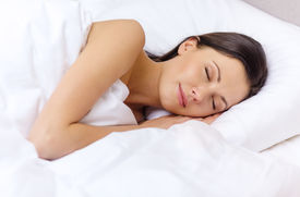 stock photo of laying-in-bed  - hotel - JPG