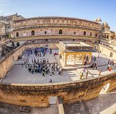 Tourists Visit Amber Fort