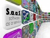 Saas Software as a Service words license for your business
