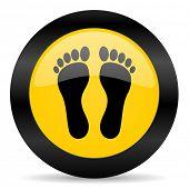 foot black yellow web icon