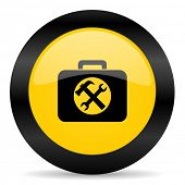toolkit black yellow web icon