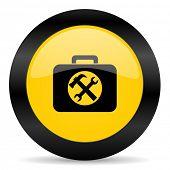 toolkit black yellow web icon