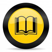 book black yellow web icon