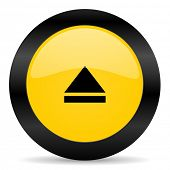 eject black yellow web icon