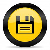 disk black yellow web icon
