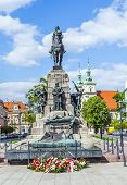 Figure Of A Defeated Knight On The Monument Dedicated To The Battle Of Grunwald