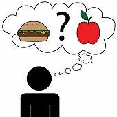 Man dream at food