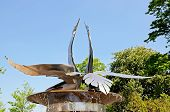 foto of avon  - Swan fountain in Bancroft Gardens Stratford - JPG