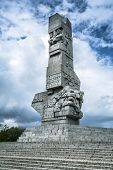 GDANSK, POLAND - 10 MAY: Westerplatte Monument in memory of the Polish defenders on 10 May 2014. Wes