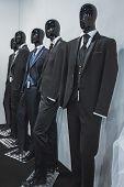 Menswear On Display At Si' Sposaitalia In Milan, Italy