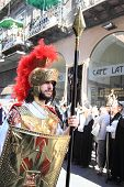 Roman soldier at Easter parade