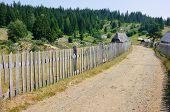 wooden fence in Kamena Gora, Serbia