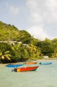 Fishing Boats Friendship Bay La Pompe Bequia St. Vincent And The Grenadines