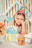 image of have sweet dreams  - little girl in anticipation of the holiday  - JPG