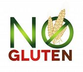 Gluten Free Sign, Health Care Diet