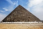 The Pyramid Of Cheops In Giza,cairo, Egypt