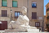 Segovia. Sphinx On An Square Juan Bravo