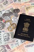 Indian Currency With Passport