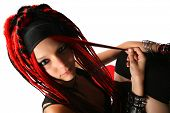 image of dreads  - Girl with dreads - JPG