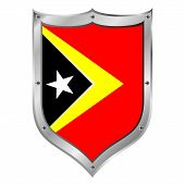 East Timor Flag Button.