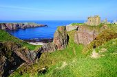 Scenic coastal Scottish castle