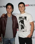 LOS ANGELES - SEP 27:  Lorenzo Henrie, David Henrie at the Teen Vogue's 10th Annual Young Hollywood