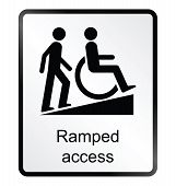 Ramped Access Information Sign