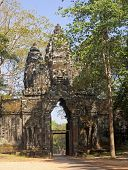The Entrance Gate To The Temple Of Angkor Thom