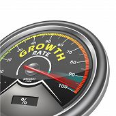 Growth Rate Meter Indicate Hundred Percent
