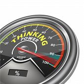 Thinking Power Conceptual Meter Indicate Hundred Percent