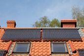 Solar pipes on roof - solar energy system