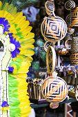 MANAUS, BRAZIL - CIRCA FEB 2014: Souvenirs at the Mercado Municipal Adolfo Lisboa in Manaus, Brazil